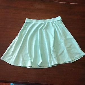 Mint Green Circle Skirt
